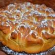 """Булочный пирог """"Букет роз"""" рецепт"""