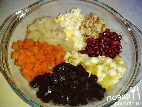 Салат со свеклой и гранатом