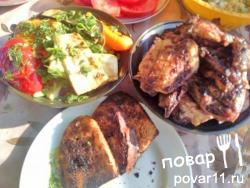 Маринад для курицы и овощей на углях