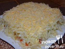 Слоеный салат с  форелью