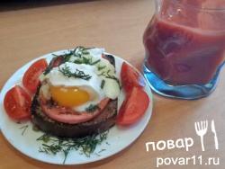 "Вариация на блюдо ""Яйца Бенедикт"""