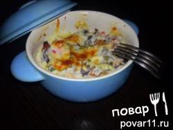 Курица и грибы под сливочным соусом