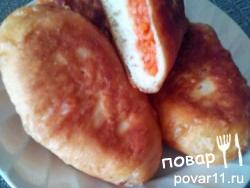 Пирожки жареные с морковкой. Рецепт