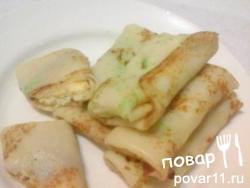 Блинчики с омлетом и капустой
