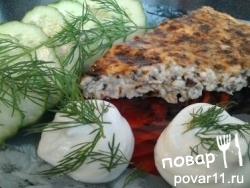 Творожно-грибная запеканка с сыром и чесноком